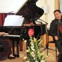 Johanna Zmeck und Nassib Ahmadieh beim Eröffnungskonzert  | Foto: Jürgen Weser